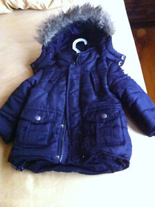 Mexx winter jacket (black) with hood - boy - in good condition