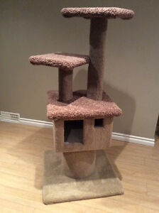Cat Tree - with 3 levels and a 'house'