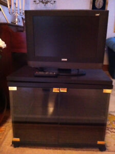 19''Television plat LEGEND & meuble,  flat screen, remote stand