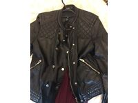 Size 14 trendy faux leather jacket from H&M