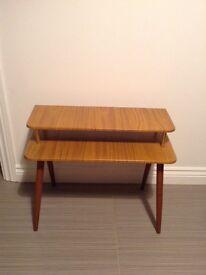 Retro telephone table. Midcentury