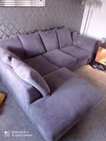 Left hand grey corner sofa excellent condition