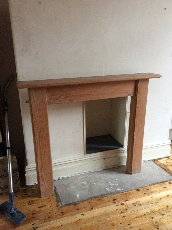 Solid wood fireplace surround (collection only)