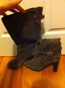 Cleaning out closet - NEW in box COACH brown suede boots sz 11