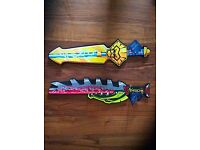Brand new foam Lego Chima swords (with tags)