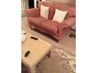 2 seater sofa and chair to match