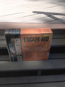 Escape aid all steel fire ladder