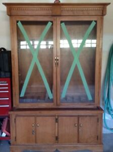Gun Cabinet -- Excellent condition, wood, custom made
