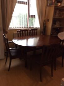 G plan dining table 6 chairs