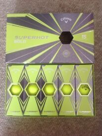 Callaway Superhot Yellow 15 Ball Pack