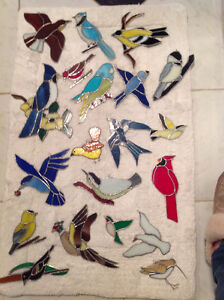 Various Stained Glass Birds