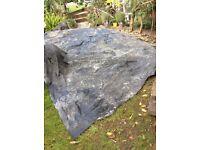 Butyl rubber sheet, roofing, pond, waterproofer