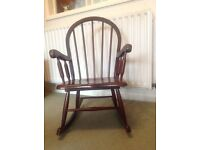 Childs Wooden Rocking Chair.
