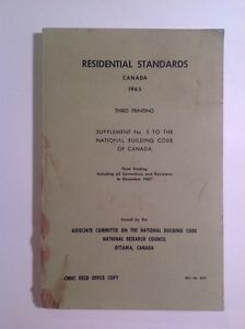 RESIDENTIAL STANDARDS CANADA 1965