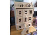 Plan wooden mansion