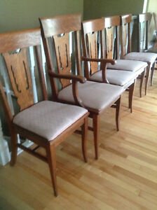 7 oak dining chairs