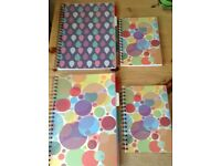 Various school/college stationary project books