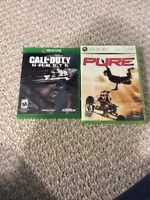 Cod ghosts for the Xbox one and pure for the Xbox 360