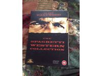 Clint Eastwood Spaghetti Westerns DVD box set -never played