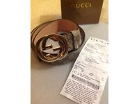 Gucci belt (GG Supreme Belt with G Buckle) WITH RECIEPT