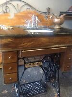 Vanity with antique touch