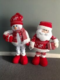Brand new extendable plush Christmas figures