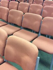 100 + banquet, conference, dining, wedding, auditorium padded chairs £6 each! O.N.O!