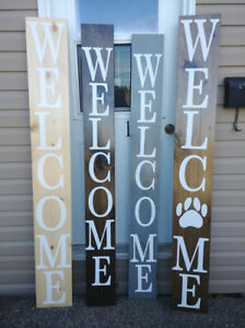 """Custom Made 6 Ft """"Welcome"""" Porch Sign"""