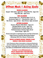 Piano, Singing and Acting Classes