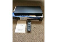 Sony BDP-5370 Blu Ray DVD player boxed with instructions and remote