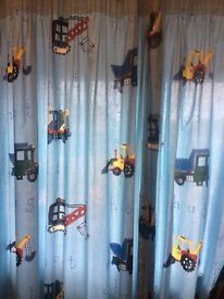 Laura Ashley Curtains Trucks Tractors and Diggers