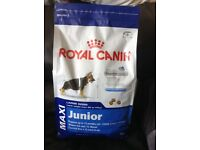 Brand new, unopened, 4kg bag of Royal Canin Maxi Junior