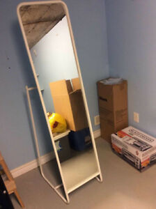 used ikea white standing mirror,PICK UP ONLY