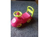 Push along/ride along pink toy