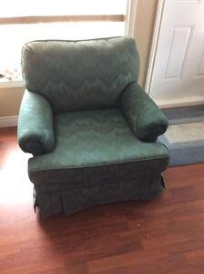 green sofa chair