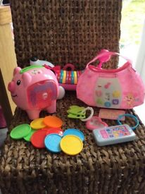 Set of 6 Fisher-Price and other brand pre school toys