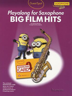 Guest Spot Playalong for Alto Saxophone Big Film Hits Sheet Music Book/DLC