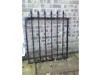 Wrought iron arrow head gate.