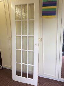 Glass panelled interior door