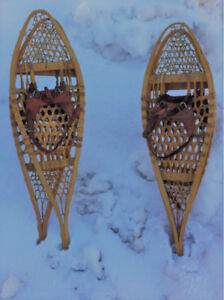 Authentic Rawhide & Wood Snowshoes