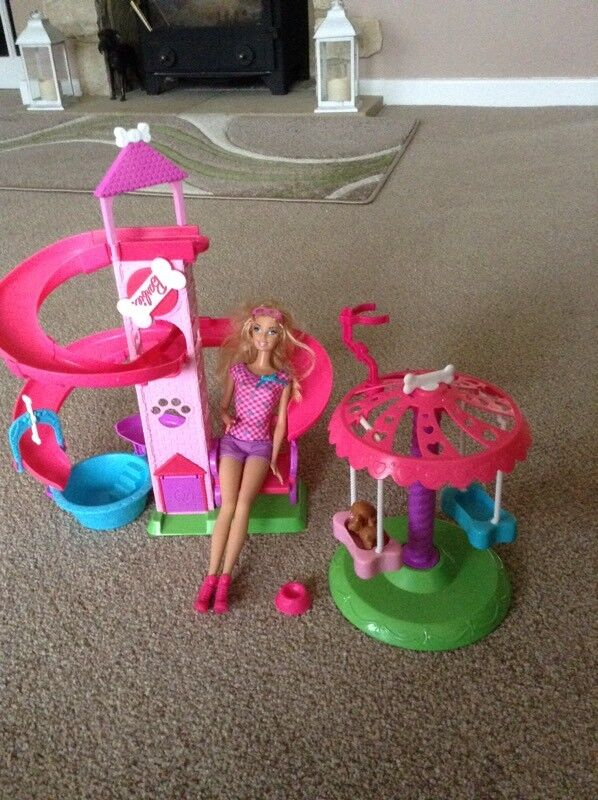 Barbie Puppy Slide & Spin Pups