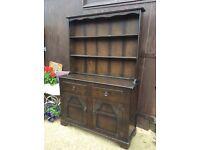 Dark wood dresser shabby chic