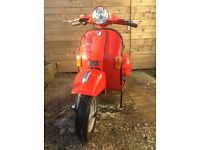 Piaggio Vespa PX125 Scooter, petrol engine, red, 2006