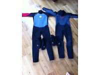 Wetsuits No Fear ages 11 and 13.