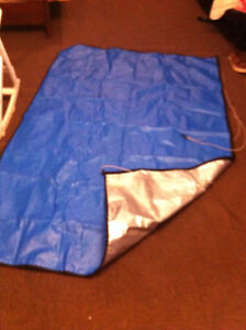 tent end covers for hard top or hybrid trailer