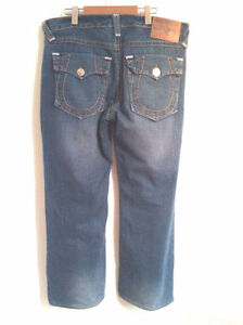 TRUE RELIGION JEANS Men's Blue Section Ricky Big T W36 I29.5