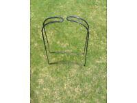 Nine grow bag cane support frames