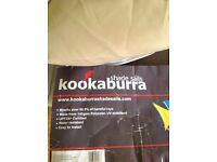 Huge Kookaburra 5.4m square sand party sail shade