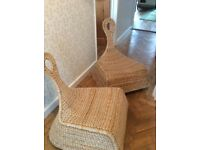 Pair of IKEA GULLHOLMEN rocking chairs