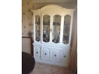 French style glass cabinet display dresser